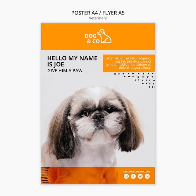 獣医のテンプレートコンセプトのポスター 無料 Psd