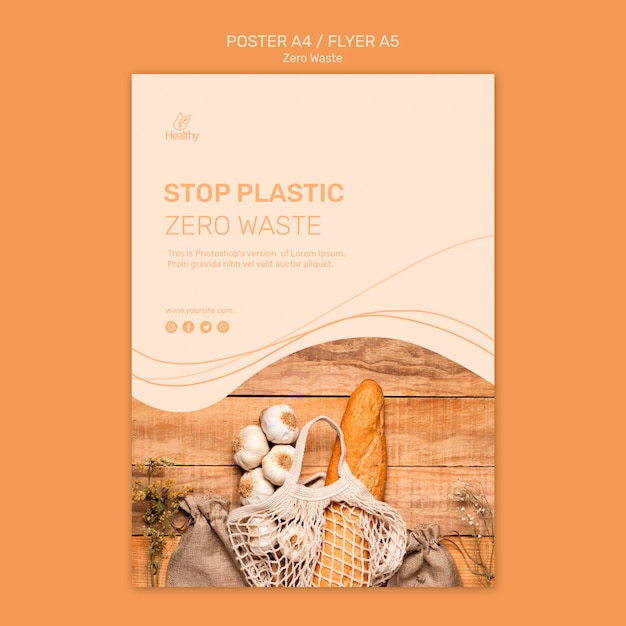 Poster for zero waste Free Psd