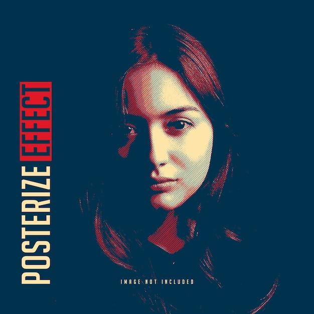 Постеризация шаблона фотоэффекта Premium Psd