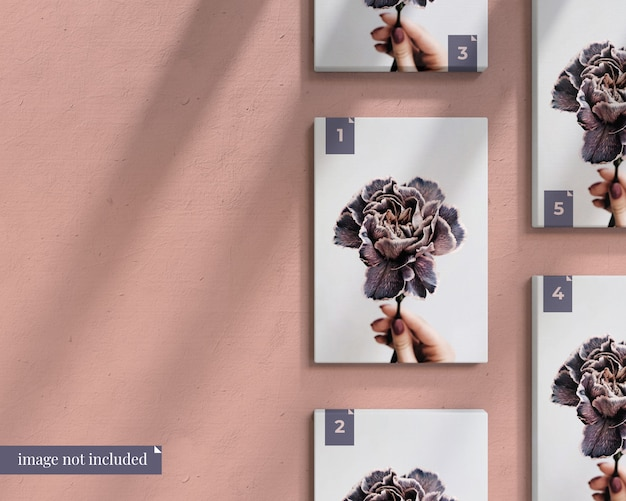 Posters mockup on wall Premium Psd