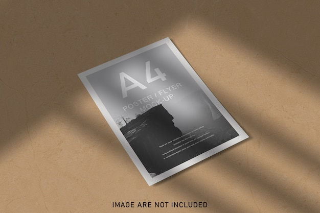 シャドウオーバーレイ付きポスターモックアップ Premium Psd