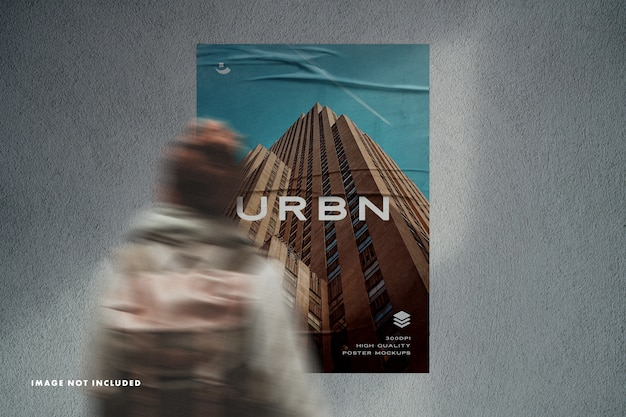 Posters mockup with shadow overlay Premium Psd