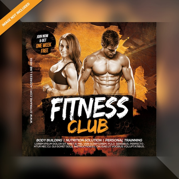 Power fitness banner template Premium Psd