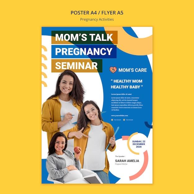 Шаблон плаката для беременных Бесплатные Psd