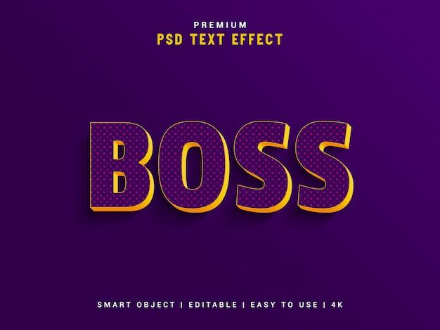 Премиум босс текстовый эффект создатель Premium Psd