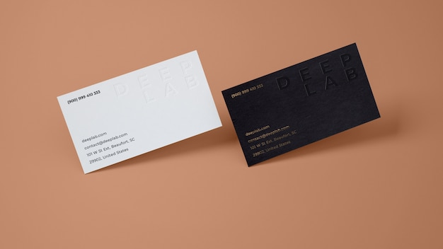 Premium business card with editable background color mockup Premium Psd