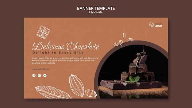Modello di banner di cioccolato premium Psd Gratuite