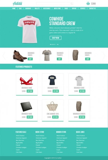 Premium Ecommerce Website Template PSD PSD file | Free Download