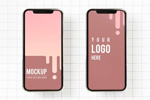 Premium mobile phone screen mockup template Free Psd