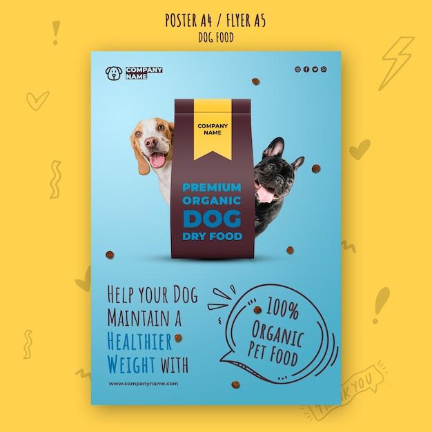 Premium organic pet food poster template Free Psd