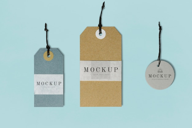 Premium quality clothing label mockup Free Psd