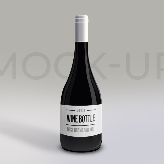 Premium realistic wine bottle mockup Premium Psd