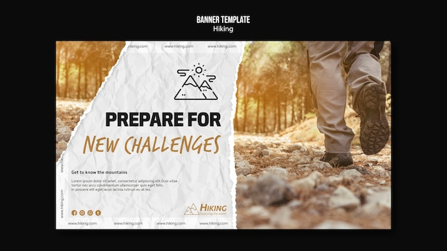 Prepare for new challenges banner template Free Psd
