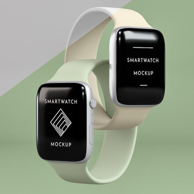 Presentazione per smartwatch con mock-up dello schermo Psd Gratuite