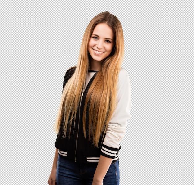 Pretty young woman posing Premium Psd