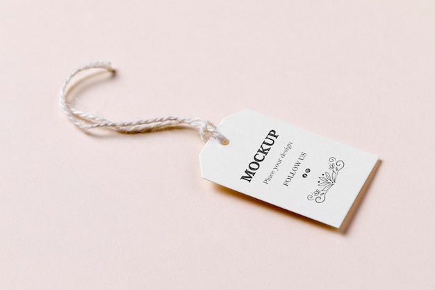 Ценник со скидкой на розовом фоне Premium Psd