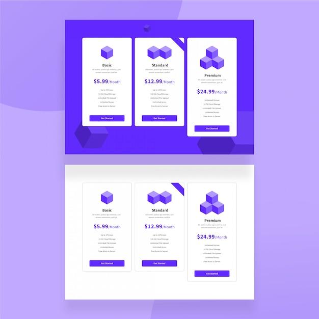 Pricing plan, price table design template | Premium PSD File