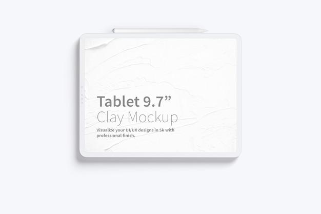 """Планшет из глины pro 12,9 """", вид спереди Premium Psd"""