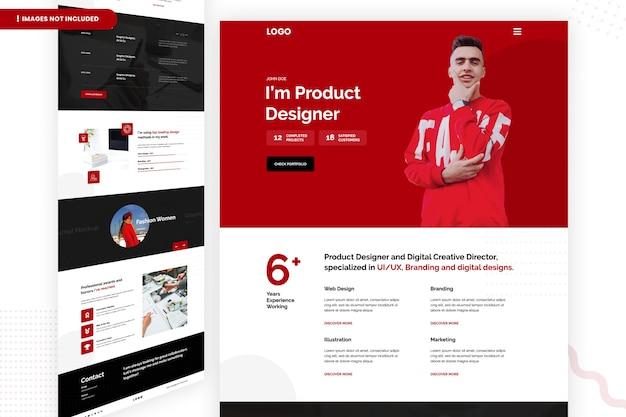 Дизайнер продуктов и цифровая креативная страница сайта Premium Psd