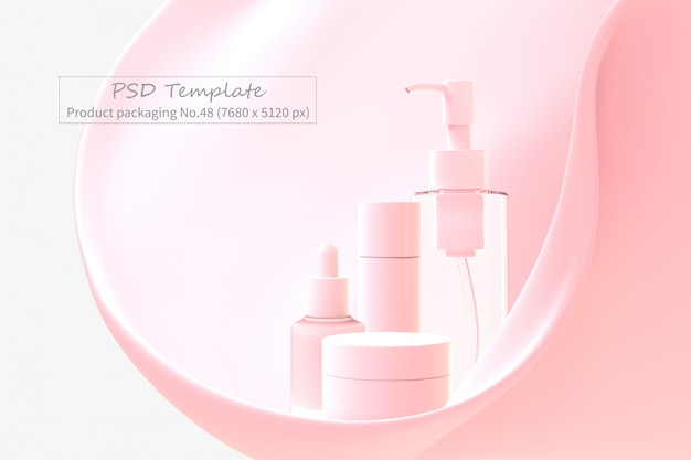 Product packaging psd template Premium Psd