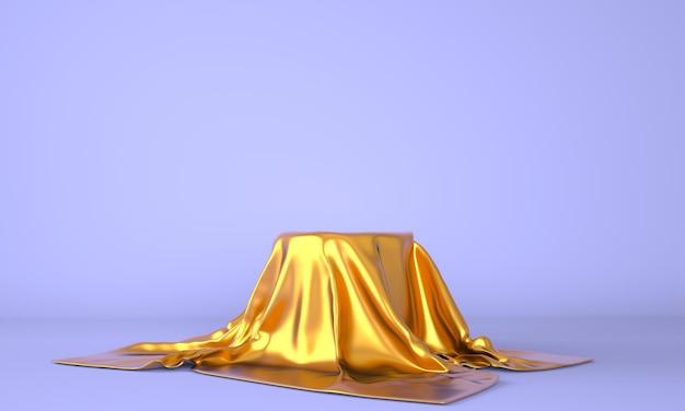 Product podium on pastel background in 3d rendering Premium Psd