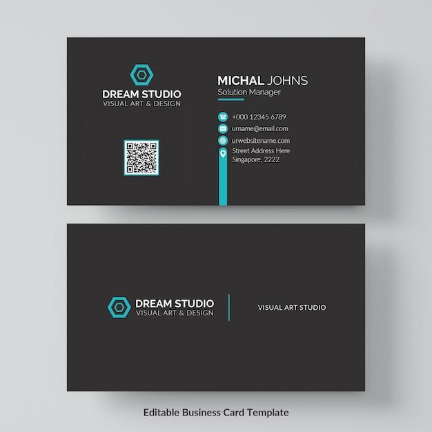 Professional business card mockup Free Psd