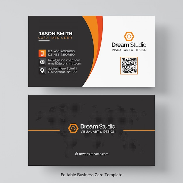 Professional business card mockup Free Psd