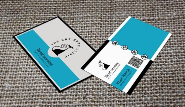 Professional business card with cat psd file free download professional business card with cat free psd wajeb Image collections