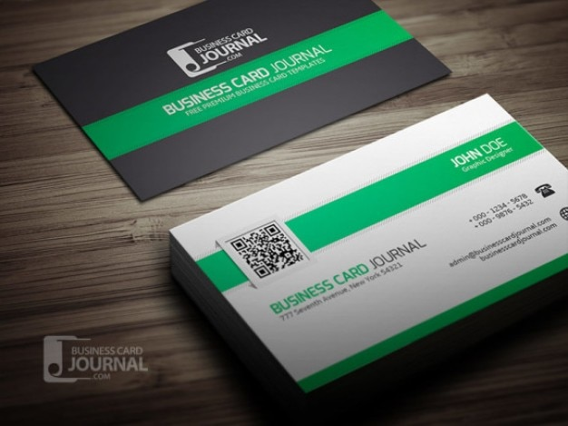 professional corporate business card template free psd