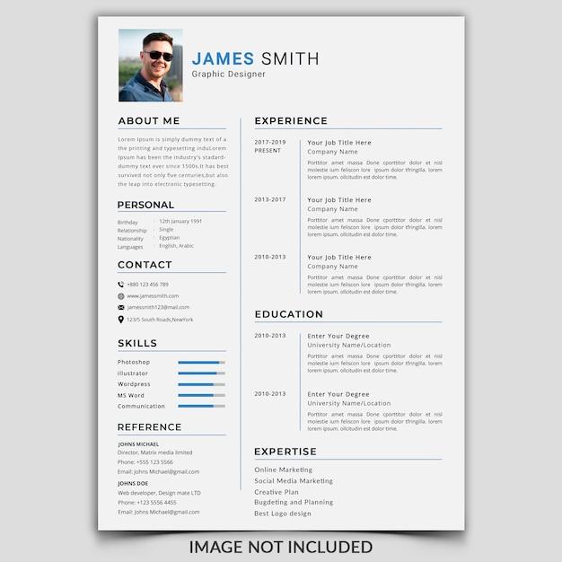 Professional cv / resume Premium Psd