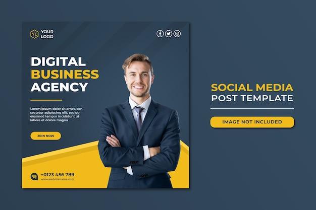 Professional digital marketing agency social media post template Premium Psd