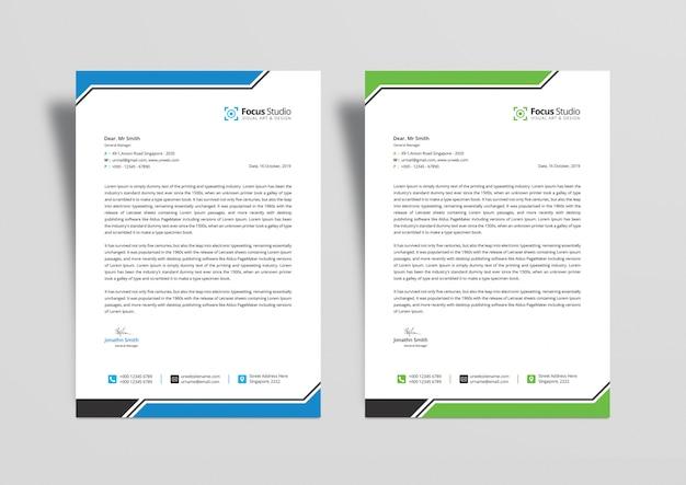 Professional letterhead design templates psd Premium Psd