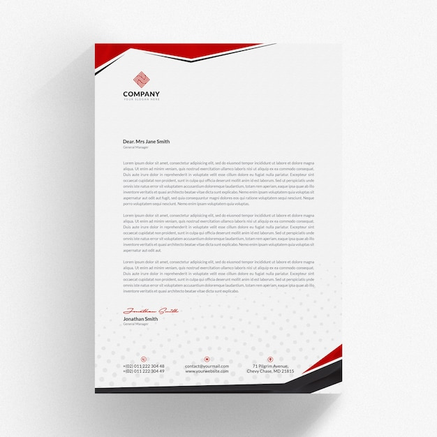 Professional Letterhead Mockup Premium Psd