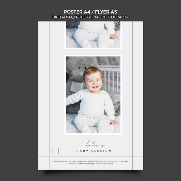 Design di poster fotografici professionali Psd Gratuite
