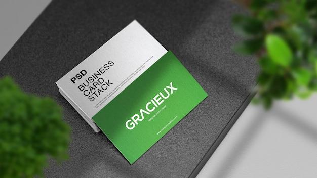 전문 현실적인 현대적이 고 깨끗 한 비즈니스 카드 스택 이랑 프리미엄 PSD 파일