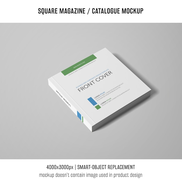 Professional square magazine or catalogue mockup Free Psd