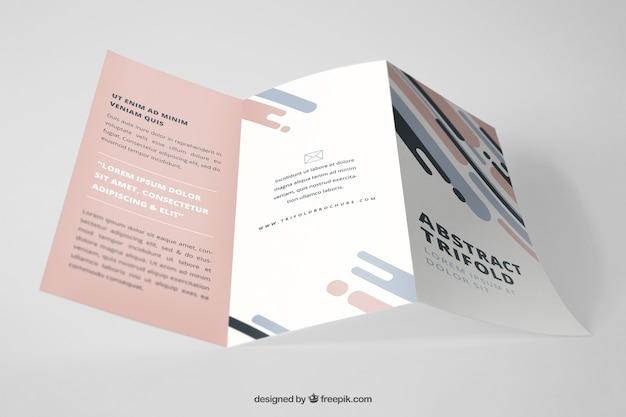 tri fold brochure mockup free download psd