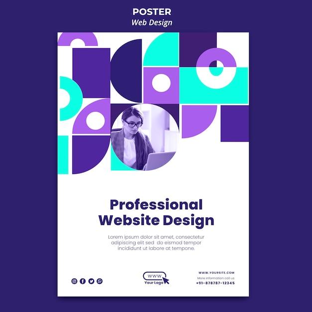 プロのウェブサイトのデザインポスターテンプレート 無料 Psd