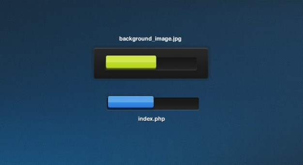 Progress bars in yellow and blue Free Psd