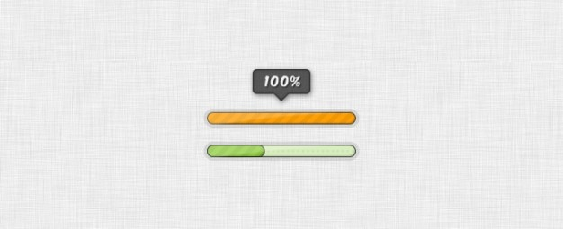 Progress and loading bars Free Psd