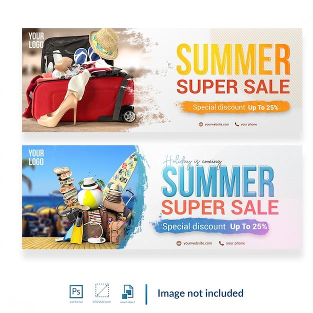 Promotion social media cover template Premium Psd