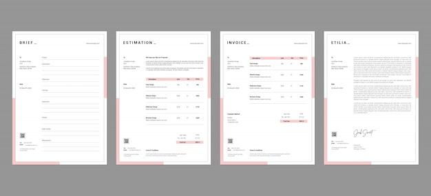 Proposal document templates vol-01 Premium Psd