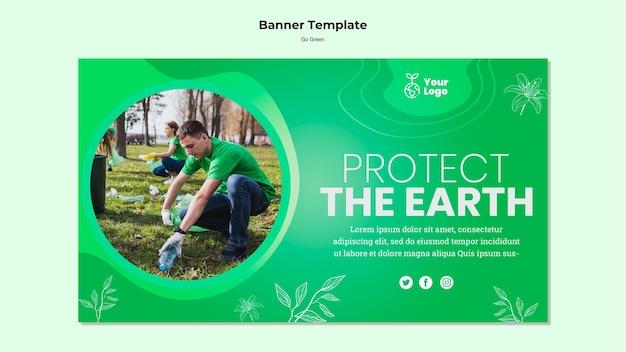 Proteggi il modello del banner di terra Psd Gratuite