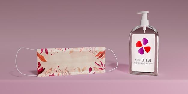 Защитная маска и мыльная бутылка Бесплатные Psd
