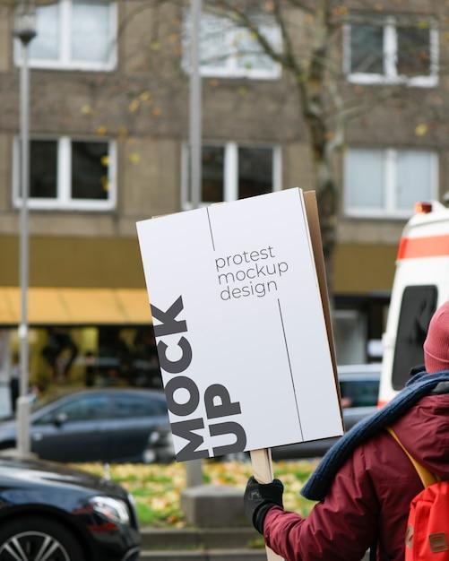 Макет протестной доски Premium Psd