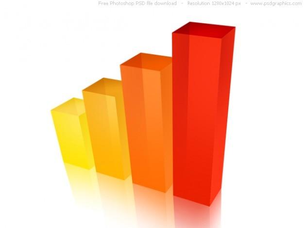 Psd 3d бизнес графе значок Бесплатные Psd
