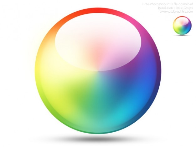 Psd Color Wheel Icon Psd File Free Download