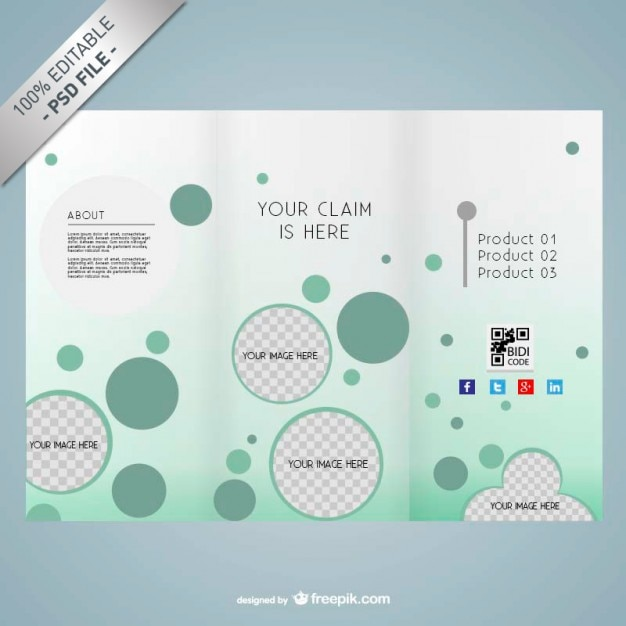 PSD editable brochure design  Free Psd