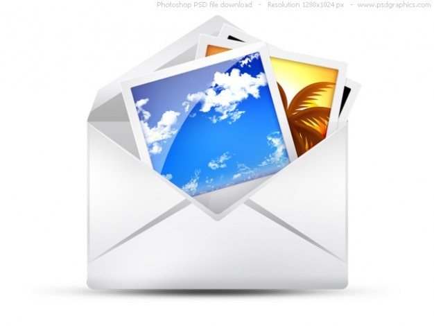 PSD envelope, email icons set PSD file | Free Download