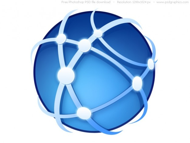 Psd глобальных коммуникаций значок Бесплатные Psd